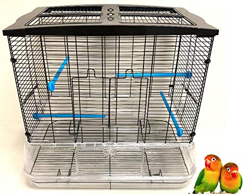 Mcage Large Convenient Bird Cage for Small Size Birds Flight Canary Parakeet Cockatiel Lovebird Finches Aviary