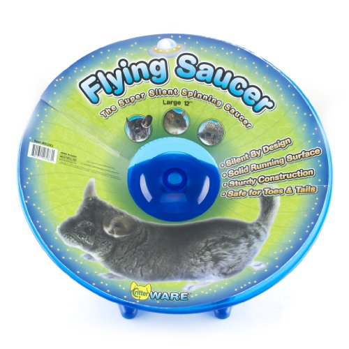 Ware Manufacturing Flying Saucer Exercise Wheel for Small Pets, 12-Inch - Colors May Vary