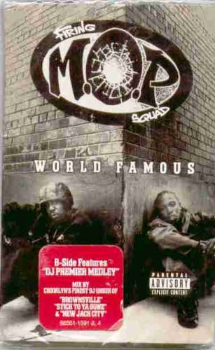 M.O.P. ~ World Famous ~ DJ Premier Medley (Original 1997 Relativity Records 1591 CASSETTE Single NEW Factory Sealed in the Original Shrinkwrap ~ Features 5 Tracks ~ See Seller's Description For Track Listing, Credits & Timing)