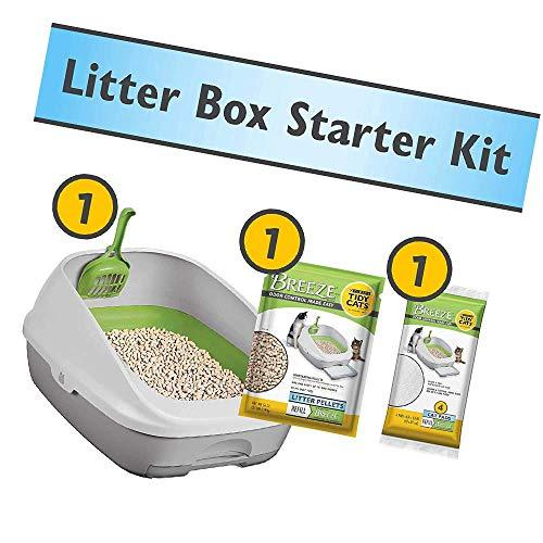 Purina Tidy Cats Litter Box System, Breeze System Starter Kit Litter Box, Litter Pellets & Pads (New Version)