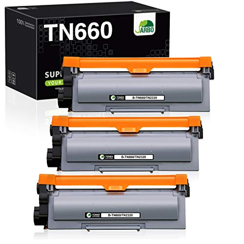 JARBO Compatible Toner Cartridges Replacement for Brother TN630 TN-630 TN660 TN-660, 3 Black, High Yield, for HL-L2300D HL-L2320D HL-L2380DW HL-L2340DW MFC-L2700DW MFC-L2720DW MFC-L2740DW Printer
