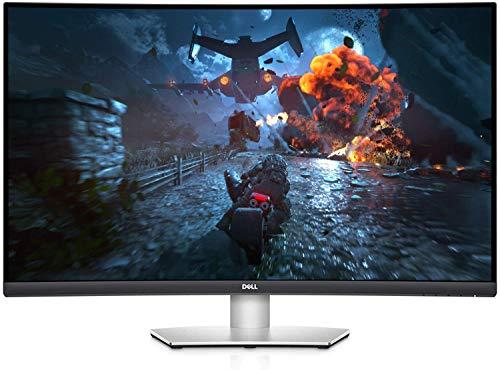 "2021 Newest Dell 32"" Curved 4K UHD VA Ultra-Thin Bezel Monitor, ADM FreeSync, HDMI, DisplayPort, Built in Speakers, VESA Certified, Sliver"