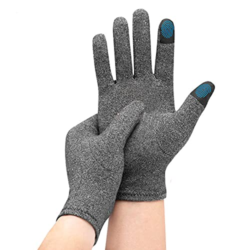 Arthritis Gloves for Women Men Relieve Pain from Rheumatoid, RSI, Carpal Tunnel, Full Finger Touchscreen Arthritis Compression Gloves for Computer Typing, Dailywork, Hands&Joints Pain Relief