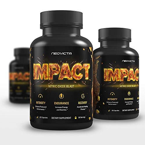 Nitric Oxide Supplement with L-Arginine & L-Citrulline Malate - Powerful N.O. Booster for Muscle Growth, Pumps, Energy & Blood Flow - Impact by Neovicta