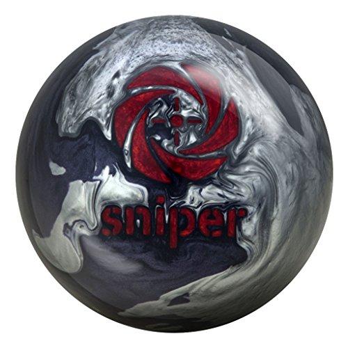 Motiv Bowling Products Midnight Sniper Bowling Ball 14Lbs, Grey/Black Pearl, 14