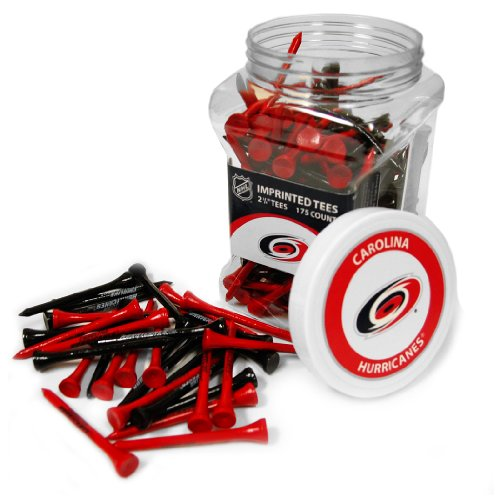 Team Golf NHL Carolina Hurricanes 2-3/4' Golf Tees, 175 Pack, Regulation Size, Multi Team Colors