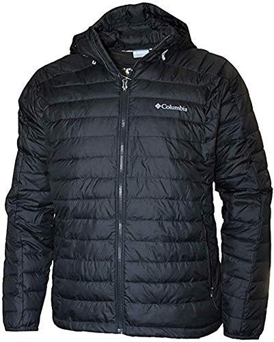 Columbia Men's White Out II Insulated Omni Heat Hooded Jacket (Black, L)