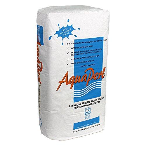 Perlite AquaPerl-12 4212 Filter Powder D.E. Alternative for Swimming Pools, 12-Pou, White