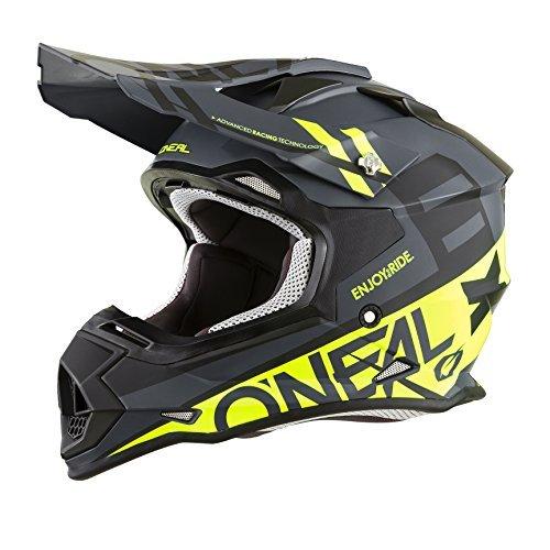 O'Neal 2Series Adult Helmet, Spyde (Black/Hi-Vis, LG)