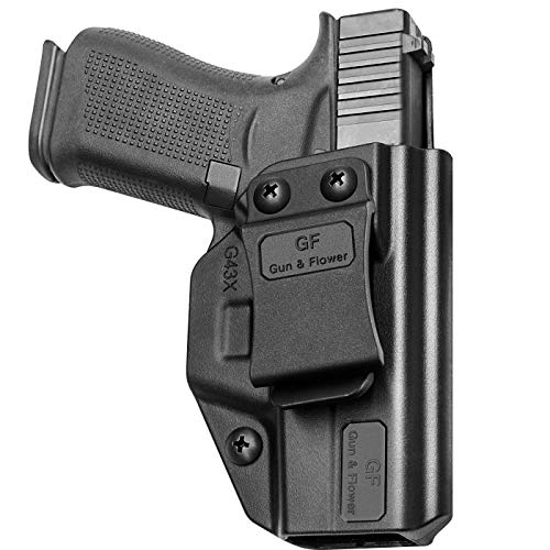 Compatible with Glock 43 G43x, Inside Waistband Carry Holster Compatible with G43 G43x Pistol, 9mm Gun Holster for Men/Women Adj. Cant & Retention, Polymer Fiber-Reinforced & Kydex Handmade Available