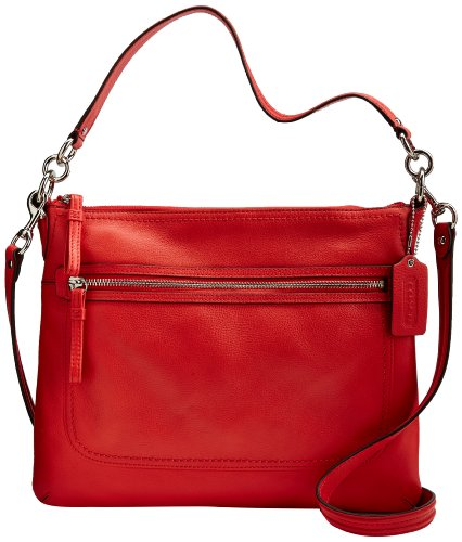 Coach Poppy Pebbled Leather Perri Hippie Convertible Bag 22421M Love Red