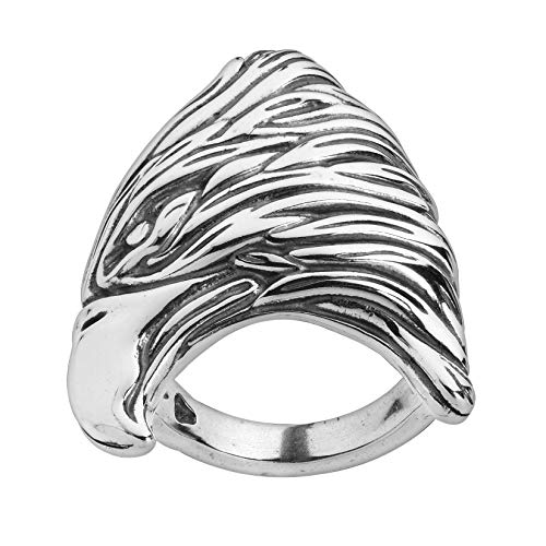 American West American West Fritz Casuse Sterling Silver Eagle Design Ring Size 8