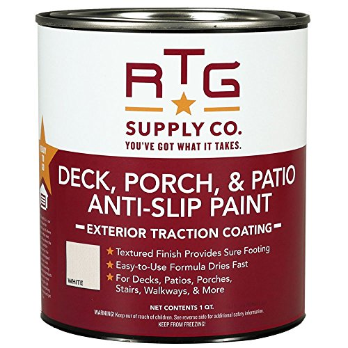 RTG Supply Co.-512596 Deck, Porch, Patio Anti-Slip Paint (Quart, White)