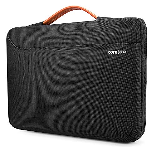 tomtoc Recycled Laptop Sleeve for 15 16-inch MacBook Pro A2141 A1398, Dell XPS 15, Surface Book 3/2 15, The New Razer Blade 15, ThinkPad X1 Extreme Gen 2 15, Spill-resistant 360 Protective Netbook Bag