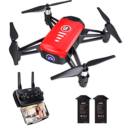 SANROCK H818 Mini Drones for Kids, RC Quadcopter with Camera, Support Altitude Hold, Route Mode, Gesture Control, Headless Mode, One Key Take Off/Landing