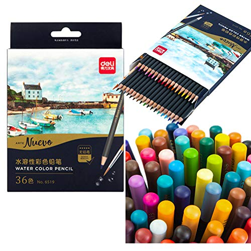 DL Premier Soft Core Colored Pencils, Soft, Thick Core Pencils, Assorted Colors, 36 Premium Quality