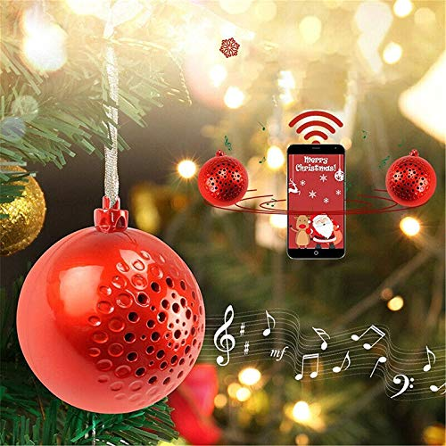 S-SNAIL-OO Song Speaker Wireless Ball Music Bluetooth Speaker Player Decor, Portable Bluetooth Speaker with Enhanced Bass and Stereo Sound, Mini Wireless Speaker (White)
