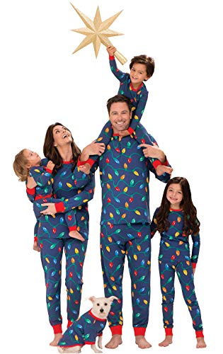 PajamaGram Matching Christmas PJs for Family, Christmas Lights, Women 3X / 24-26