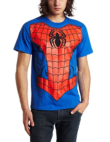 Marvel Men's Spiderman T-Shirt, Royal Blue, X-Large