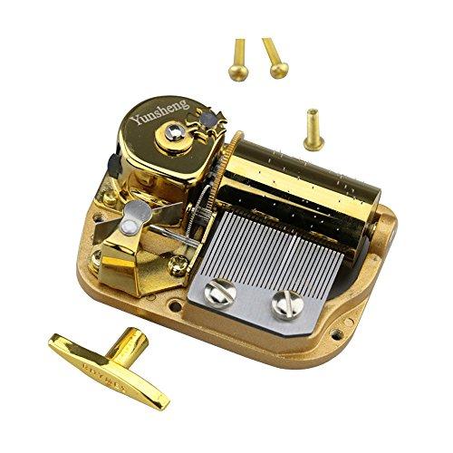 Yunsheng 30 Note Windup Gold Plating Clockwork Mechanism DIY Musical Movement (Elfen Lied Lilium)