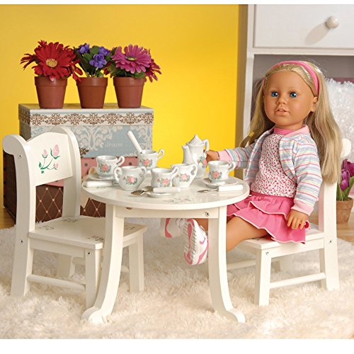 CP Toys Wooden Table & Chair Playset for 18' Doll