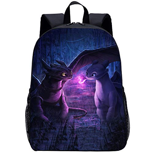 How to Train Your Dragon Backpack Cospaly for School Student Polyester Bookbag Classic Large Capacity Lightweight Backpack (Y)