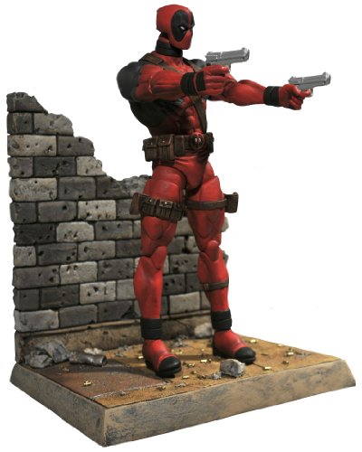 Diamond Select Toys Marvel Select: Deadpool Action Figure,Red,black,Standard