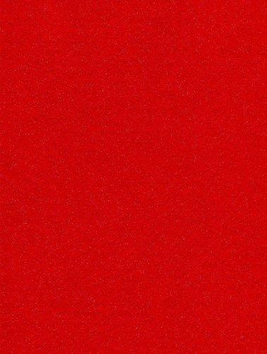 24-Piece Kunin Eco-fi Glitter Classicfelt, 9-Inch by 12-Inch, Red