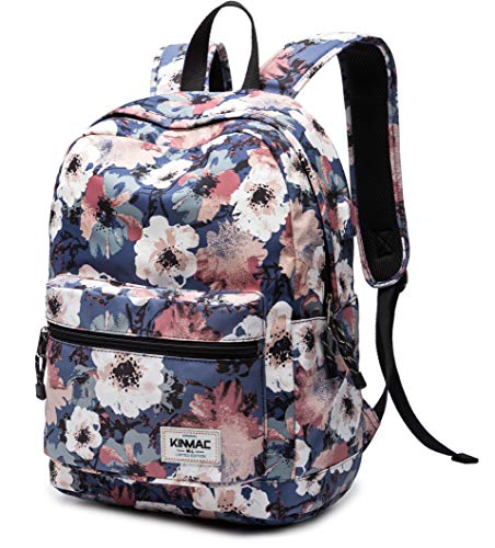 Kinmac Camellia 15 inch Waterproof Laptop Backpack Travel Outdoor Backpack with USB Charging Port for 13 inch 14 inch and 15.6 inch Laptop