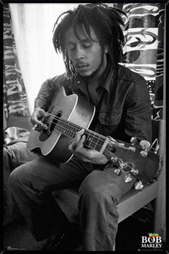 Frame USA Bob Marley Guitar Poster (24x36) Individually Rolled
