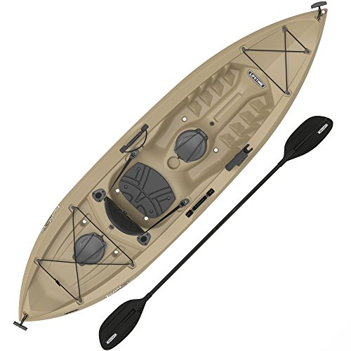 Lifetime Muskie Angler Sit-On-Top Kayak with Paddle, Tan, 120'