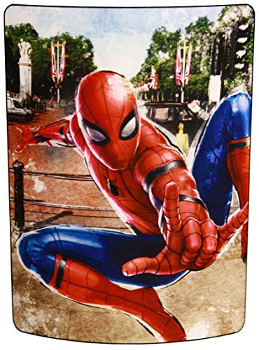 Marvel Spider-Man: Far from Home, 'Back in the Neighborhood' Micro Raschel Throw Blanket, 46' x 60', Multi Color