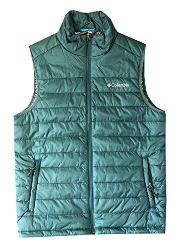 Columbia Men's Crested Butte II Omni-Heat Puffer Vest Jacket (XL, Teal)