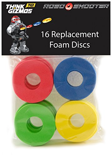 RoboShooter by ThinkGizmos Remote Control Robot - Spare Foam Disks Only (Pack of 16)