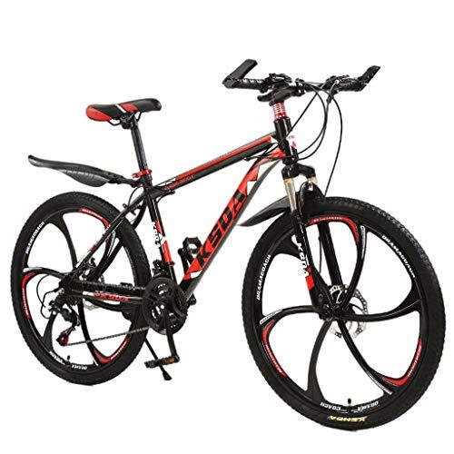 Sentmoon 26 Inch 21-Speed Bicycle, Junior Aluminum Full Mountain Bike Stone Mountain Bike for Speed Training Endurance Training and Fitness Gym