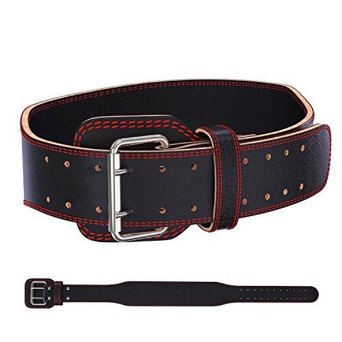 Weighlifting Back Belt Belts Fitness Lifing Belts Lifting Wheigt Lifting Belt Weightlifting Belts Weight Loft Belt Weight Gym Belt Lether Weight Lifting Belt Squat Deadlift Training (Red/Black,Large)