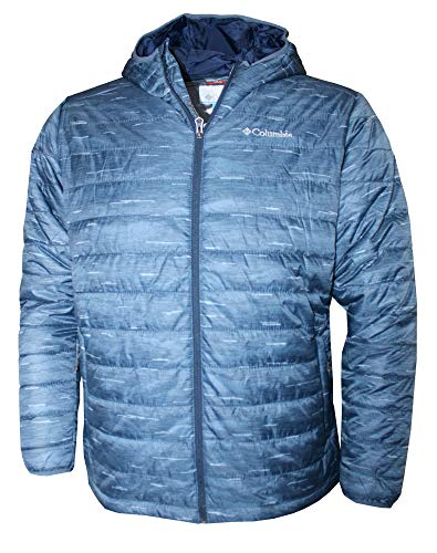 Columbia Men's Crested Butte Omni-Heat Hooded Jacket (Whale Printed, XXL)
