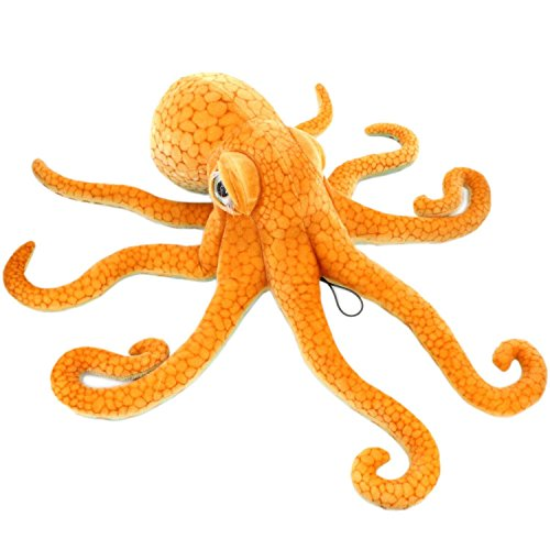 LERORO Realistic Stuffed Marine Animals Soft Plush Toy Octopus Orange (21.6 Inch,55CM)