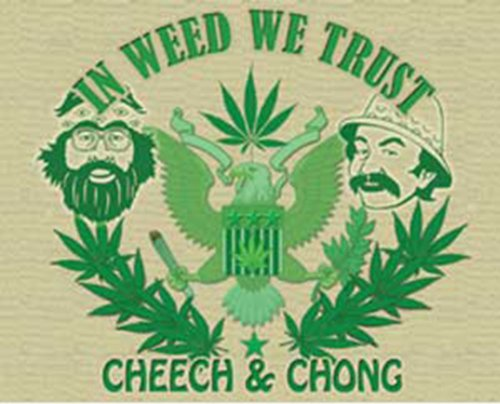 Licenses Products Cheech and Chong In Weed We Trust Sticker