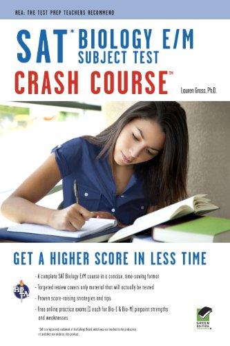 SAT Subject Test™: Biology E/M Crash Course Book + Online (SAT PSAT ACT (College Admission) Prep)