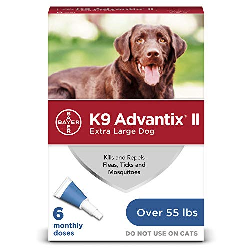 K9 Advantix II Flea and Tick Prevention for Extra-Large Dogs 6-Pack, Over 55 Pounds