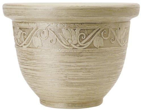 Listo 9-Inch Glaze Resin Pottery, Champagne White