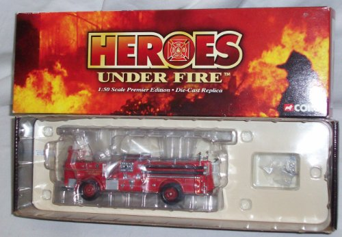 CORGI HEROES UNDER FIRE, SEAGRAVE K OPEN CAB PUMPER, ENGINE CO. 9, KANSAS CITY, MO. 1:50 SCALE DIE CAST MODEL
