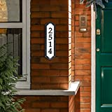 Whitehall Products Nite Bright Address Sign, 16' x 4.5', Black Numbers White Reflective Background