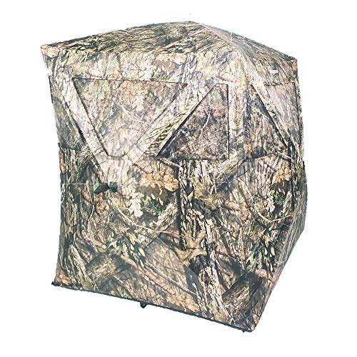 Ameristep 2 Person 5.5 Foot Big Country Hub Style Ground Hunting Blind, Mossy Oak Break-Up Country