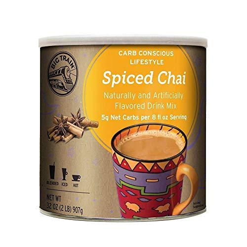 Big Train Carb Conscious Drink Mix Spiced Chai 2 Lb (1 Count) Low Carb Powdered Instant Chai Tea Latte Mix, Spiced Black Tea with Milk, For Home, Café, Coffee Shop, Restaurant Use