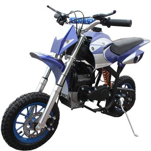 40cc Kids Dirt Bike Mini Pit Bike Dirt Bikes Motorcycle Gas Power Bike Off Road,Blue
