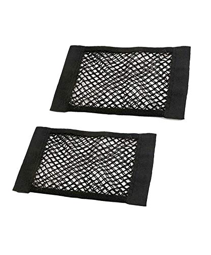JAVOedge (2 Pack - Medium NETS Hook and Loop Adhesive Tape Storage Net Car Accessories Interior Organizer, Car/Truck/RV