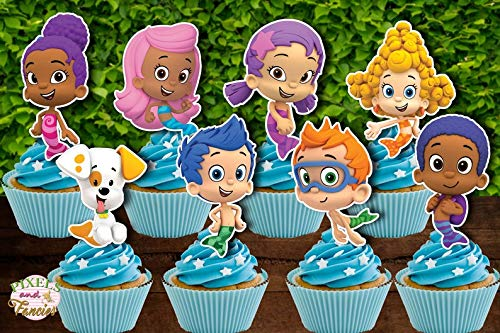 BUBBLE GUPPIES Cupcake Toppers, Bubble Guppies Cupcake Picks, Bubble Guppies Cake Topper, Bubble Guppies, Bubble Guppies Cutouts