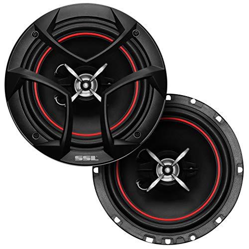 Sound Storm Laboratories CG653 6.5 Inch Car Speakers - 325 Watts of Power Per Pair, 162.5 Watts Each, Full Range, 3 Way, Sold in Pairs